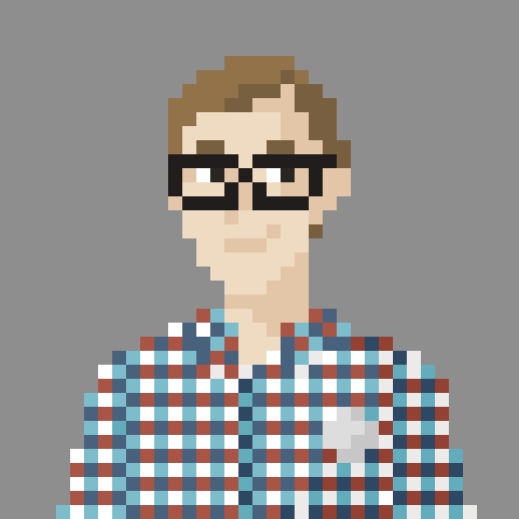"Pixel portrait of Oleg ""Sudoism"" Lavrovsky"