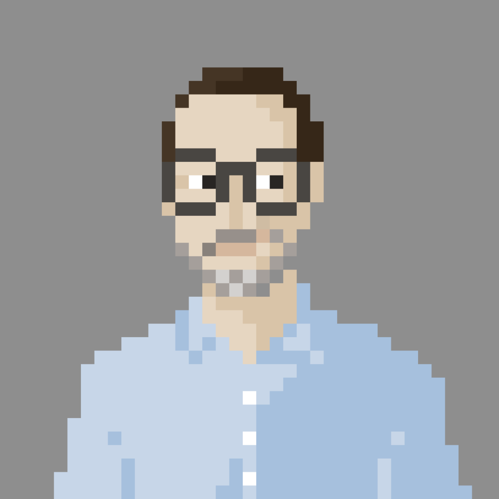 "Pixel portrait of Andry ""Unlock"" Joos"