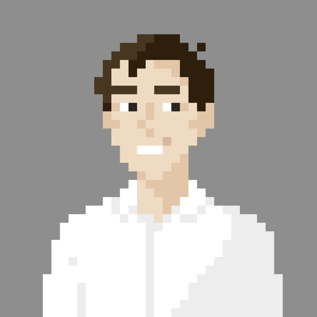 "Pixel portrait of David ""Zehbra"" Schenkel"